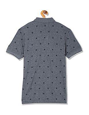 U.S. Polo Assn. Denim Co. Regular Fit Star Print Polo Shirt