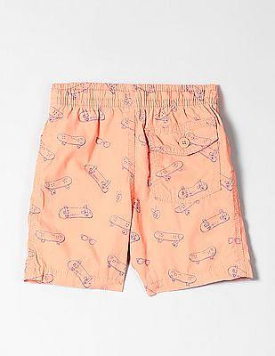 GAP Toddler Boy Print Pull-On Shorts