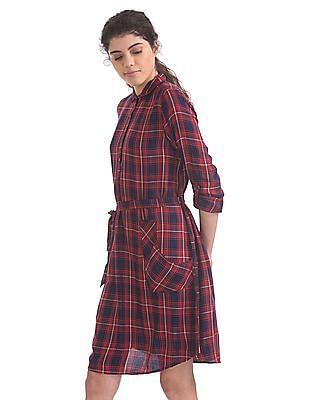 Cherokee Check Shirt Dress