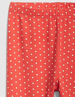 GAP Red Baby Polka Print Leggings