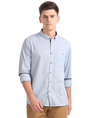 Cherokee Regular Fit Patterned Weave Shirt