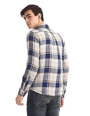 U.S. Polo Assn. Check Irish Linen Shirt