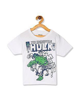 The Children's Place Boys White  Hulk Graphic Short Sleeve T-Shirt