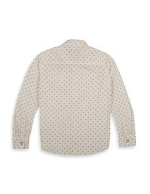 FM Boys Boys Slim Fit Printed Shirt