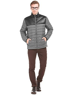 Nautica Quilted Colour Block Padded Jacket