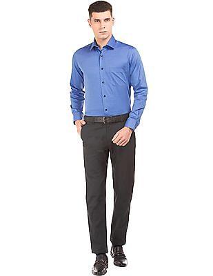 Arrow Regular Fit Herringbone Weave Shirt