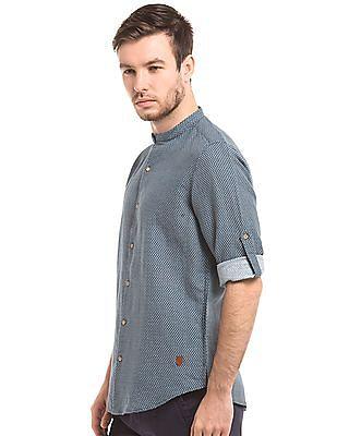 True Blue Printed Linen Shirt