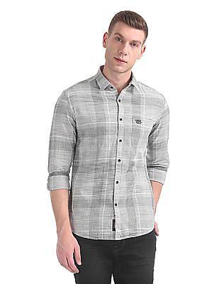 U.S. Polo Assn. Denim Co. Slim Fit Patterned Shirt