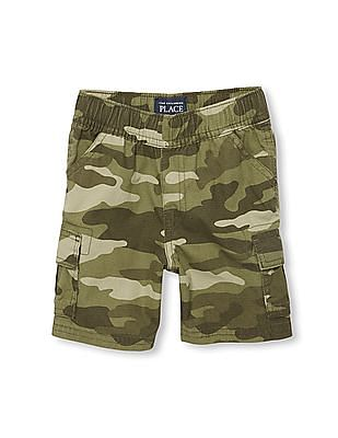 The Children's Place Toddler Boy Ripstop Woven Pull-On Cargo Shorts