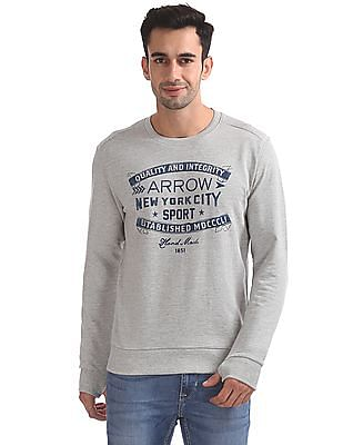 Arrow Sports Regular Fit Solid Sweatshirt