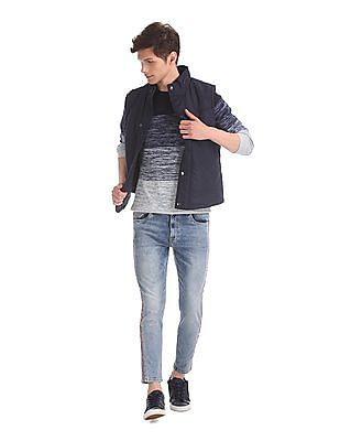 Flying Machine Blue Mankle Slim Fit Washed Jeans