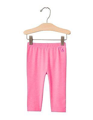 GAP Baby Pink Bow Back Leggings