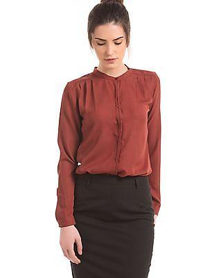 Arrow Woman Mandarin Collar Regular Fit Shirt