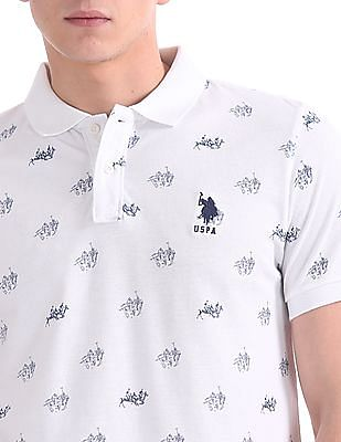 U.S. Polo Assn. Regular Fit Brand Print Polo Shirt