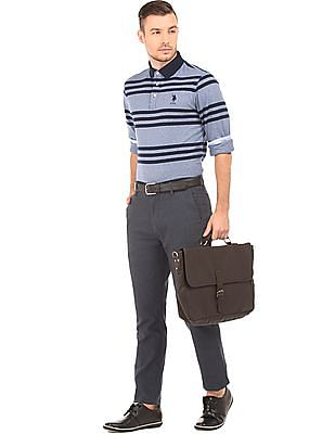 U.S. Polo Assn. Checked Slim Fit Trousers