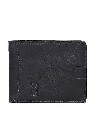 U.S. Polo Assn. Blue Textured Leather Wallet