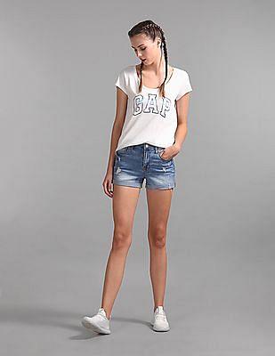 GAP White Logo Print Short Sleeve T-Shirt