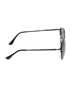 Flying Machine Black Half Rim UV Protected Sunglasses