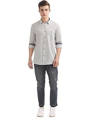 Cherokee Contemporary Fit Speckled Shirt