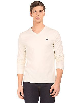 Aeropostale Long Sleeve V-Neck T-Shirt