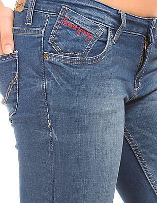 Flying Machine Women Stone Wash Super Skinny Jeans