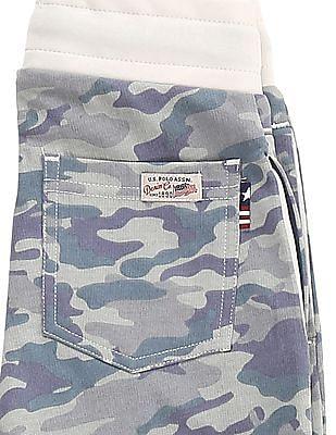 U.S. Polo Assn. Kids Boys Camo Print Knit Joggers