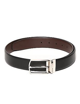 Arrow Black And Brown Reversible Leather Belt