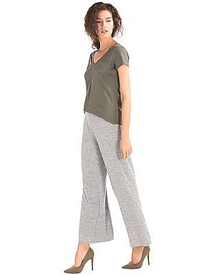 GAP Softspun Knit Wide Leg Pants