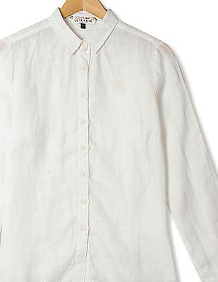 U.S. Polo Assn. Women Long Sleeve Solid Shirt