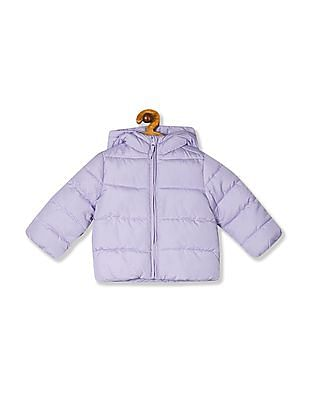 The Children's Place Toddler Girl Purple Puffer Hooded Jacket