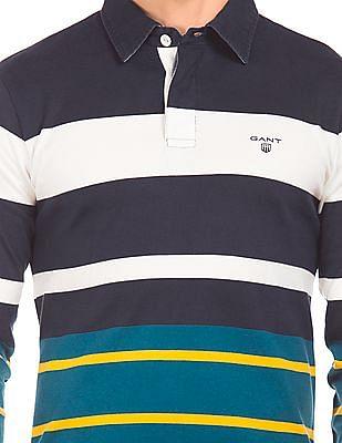 Gant Striped Long Sleeve Polo Shirt