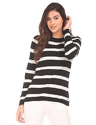 Elle Striped Knit Top