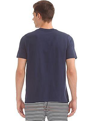 Nautica Printed Front Round Neck T-Shirt