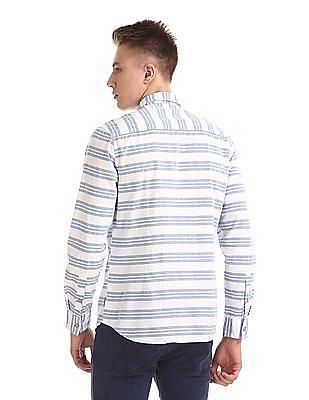 Flying Machine Vertical Stripe Poplin Shirt