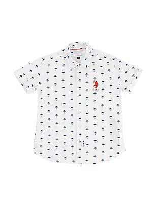 U.S. Polo Assn. Kids Boys Palm Print Shirt