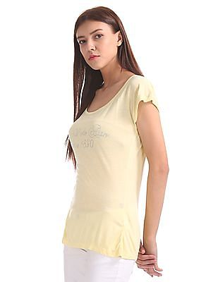 U.S. Polo Assn. Women Embellished Extended Sleeve Top