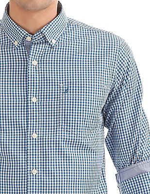Nautica Button Down Collar Check Shirt