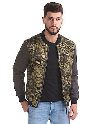 Ed Hardy Printed Front Bomber Jacket