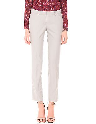 Arrow Woman Solid Curvy Fit Trousers