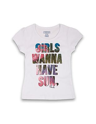 Cherokee Girls Printed Front Cotton Top