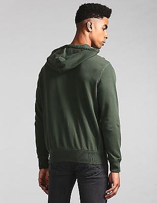 GAP Green Hooded Zip Up Sweatshirt
