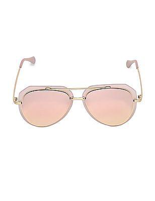 SUGR Pink Stylized Mirrored Sunglasses