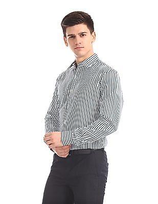 Arrow Slim Fit Vertical Stripe Shirt
