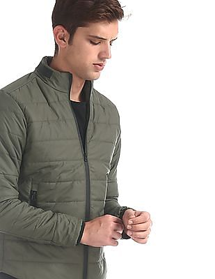 Colt Green Solid Puffer Jacket