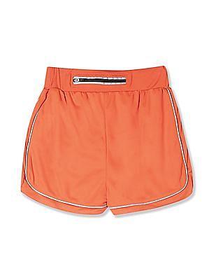 Cherokee Orange Girls Mesh Panel Active Shorts