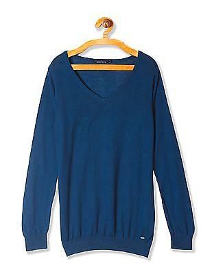 Arrow Woman V-Neck Full Sleeve Sweater
