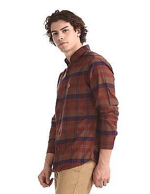 U.S. Polo Assn. Brown Button Down Collar Check Shirt