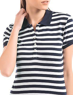Aeropostale Striped Polo Shirt