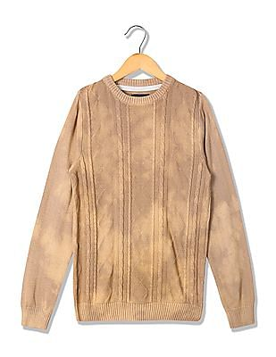 Cherokee Boys Cable Knit Long Sleeve Sweater