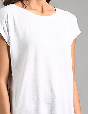 GAP Women White Softspun Short Sleeve Tie-Back T-Shirt
